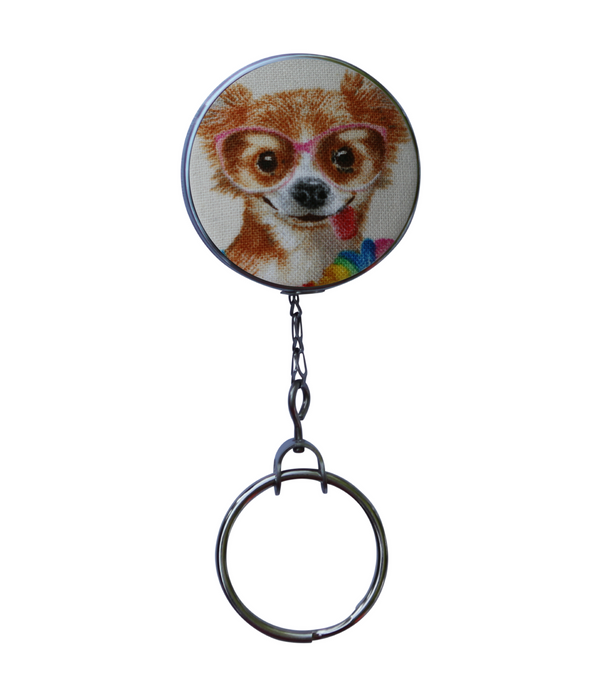 Retractable ID Badge Reel - Chihuahua Dog