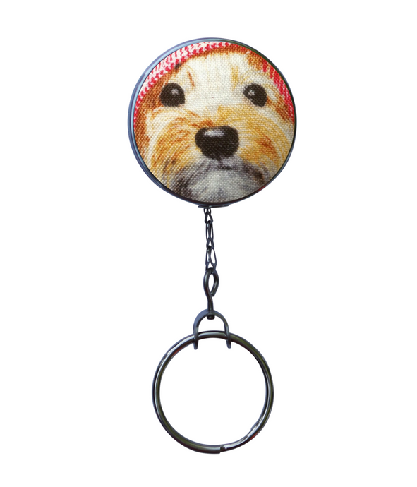 Retractable ID Badge Reel - Scruffy Dog