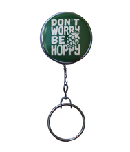 """Don't Worry Be Hoppy"" 3 Colors to Choose From Retractable ID Badge Reel"