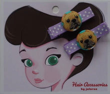 French Bulldog Hair Clips