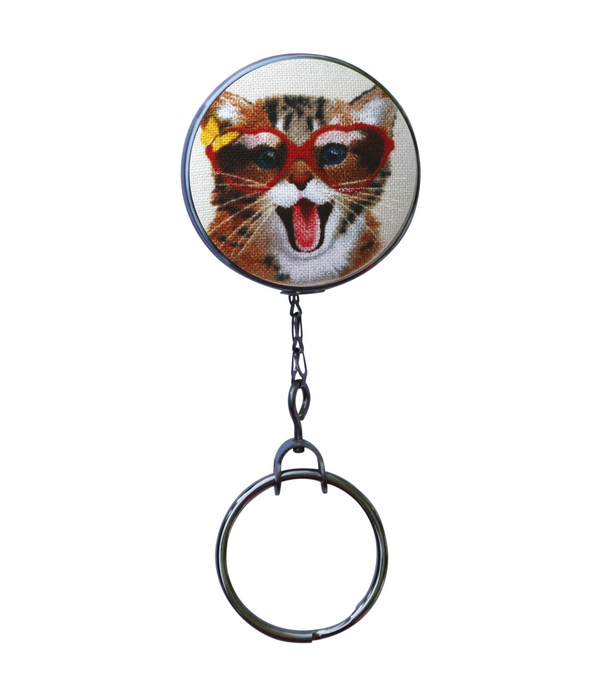 Happy Cat Office ID Badge Reel