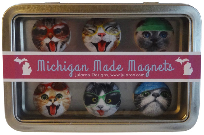 Funny Cat Magnets - Set of 6