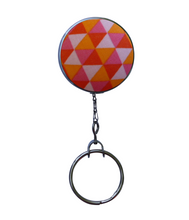Bright Orange and Pink Triangle Retractable ID Badge Reel