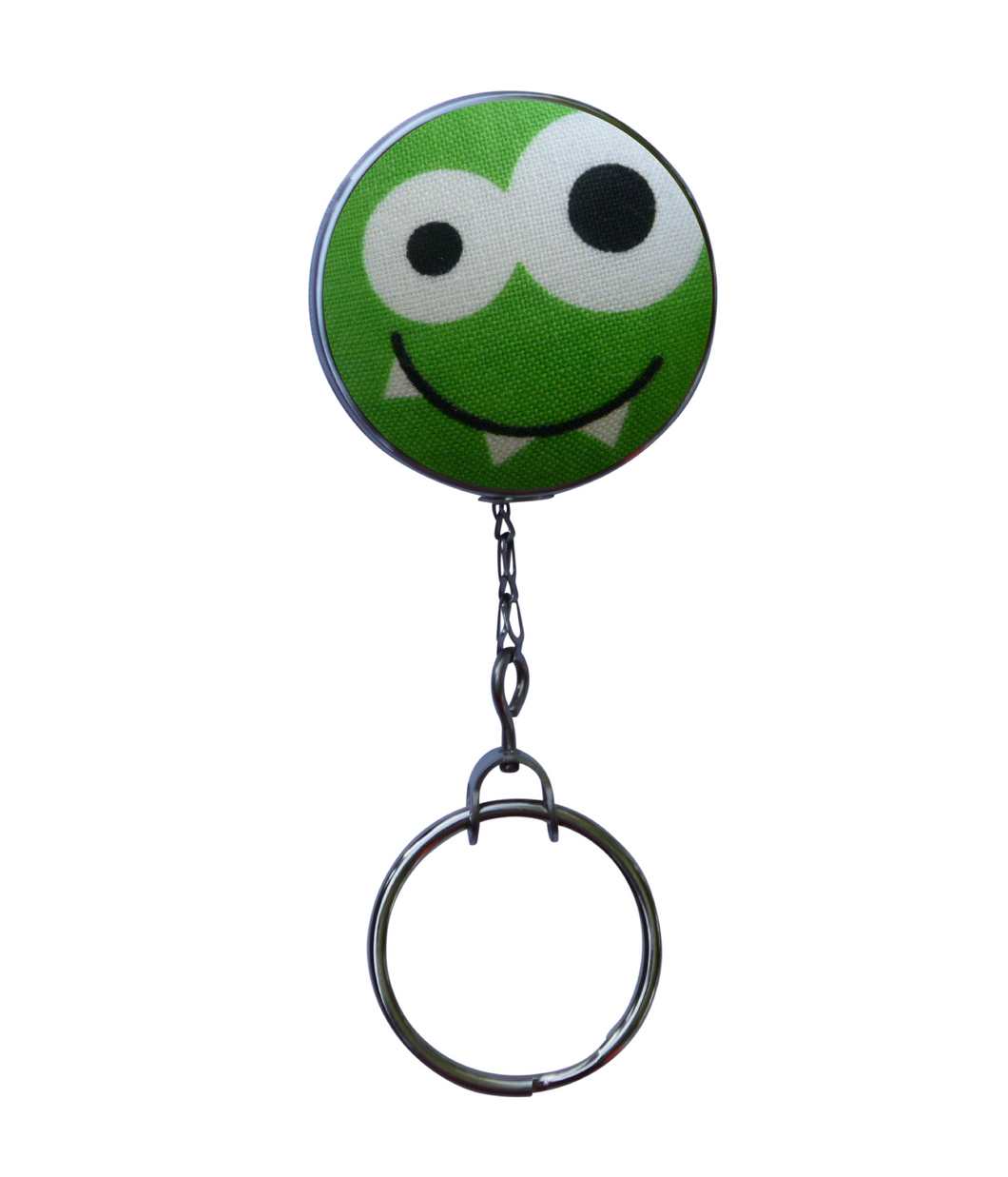 Retractable ID Badge Reel - Green Bug Eyed Monster