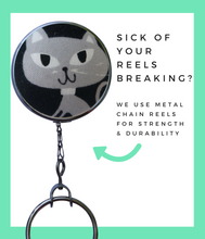Retractable ID Badge Reel - Grey Cat