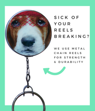 Retractable ID Badge Reel - Hound Dog