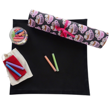 Hugs and Hot Cocoa Travel Chalkboard Mat for Creative Kids