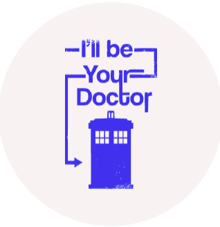 I'll Be Your Doctor Retractable ID Badge Reel
