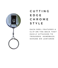 Retractable ID Badge Reel - Bright Triangle Geometric