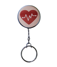 Large Heartbeat Retractable ID Badge Reel