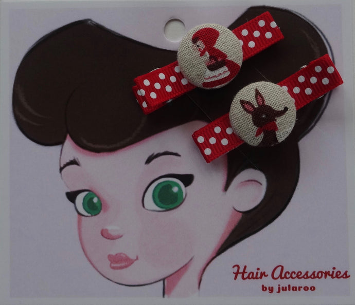 Little Red Riding Hood Hair Clips