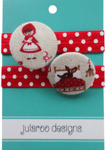 Little Red Riding Hood Large Hair Ties - 3 Colors to Choose From
