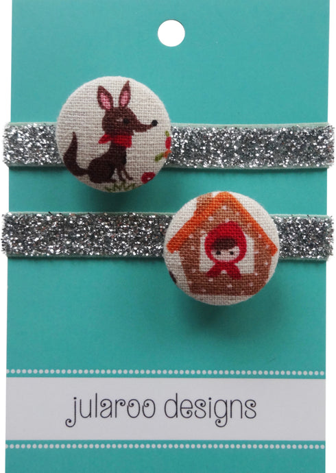 Little Red Riding Hood Small Hair Ties - 3 Colors to Choose From