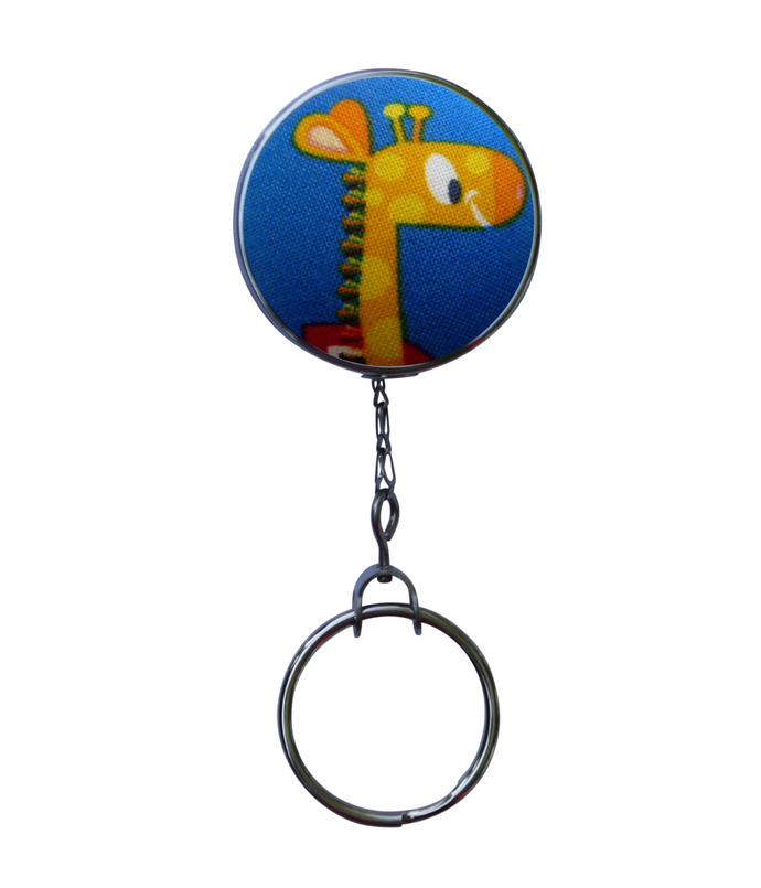 Retro Style Giraffe Retractable ID Badge Reel