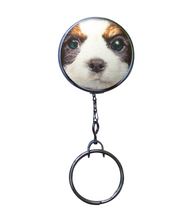 Maltese Dog Print Retractable ID Badge Reel