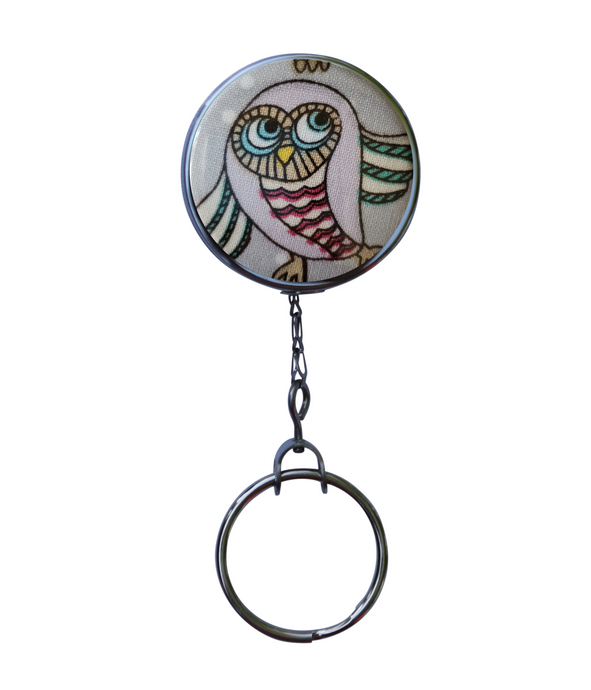 Cute Owl Retractable ID Badge Reel
