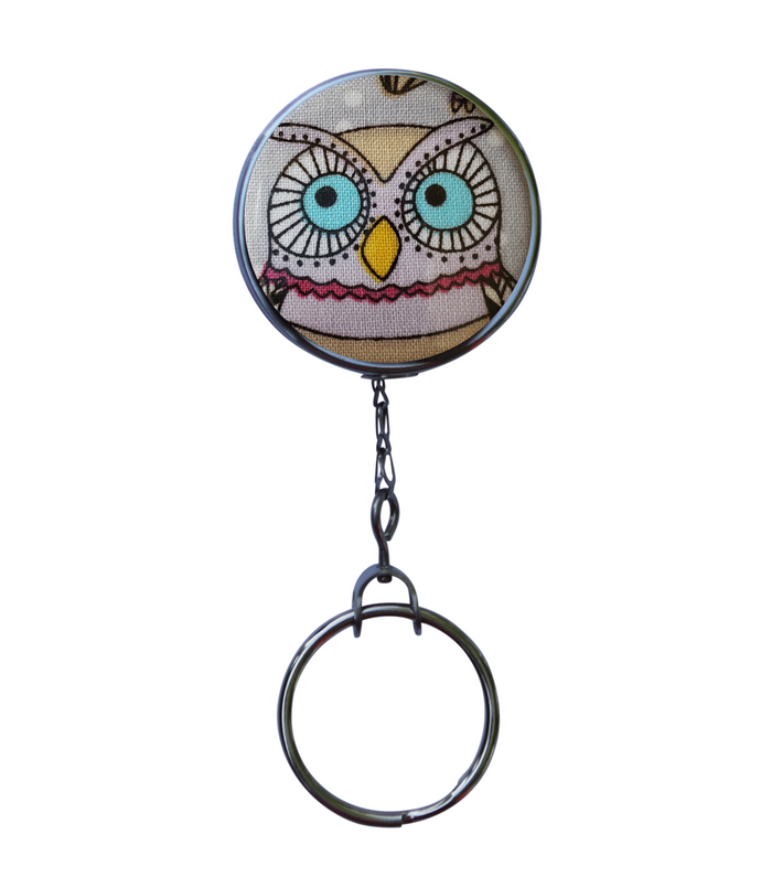 Owl Retractable ID Badge Reel