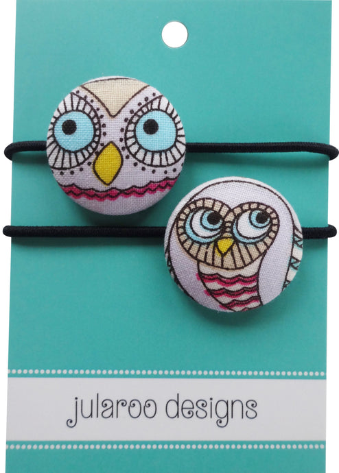 Owl Hair Ties - 2 Colors to Choose From