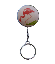 Retractable ID Badge Reel - Pink Flamingo #3