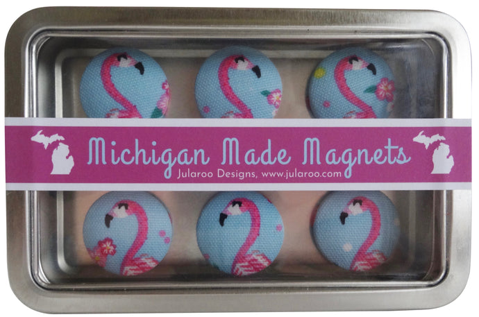 Pink Flamingo Magnets Set of 6