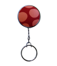 Retractable ID Badge - Red and Pink Polka Dots