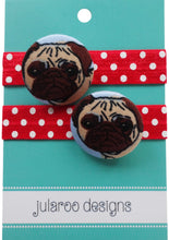 Pug Dog Hair Ties - 3 Colors to Choose From