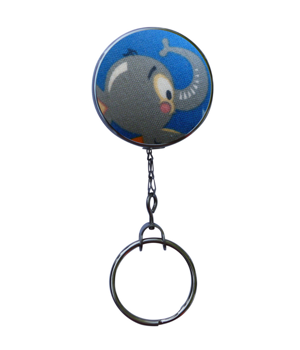 Retractable ID Badge Reel - Retro Elephant