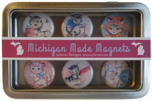 Retro Cats Magnets Set of 6