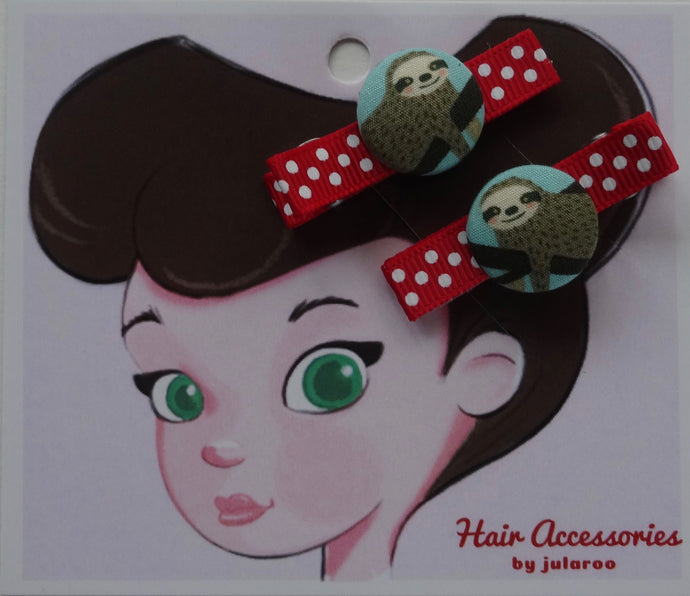 Sloth Hair Clips