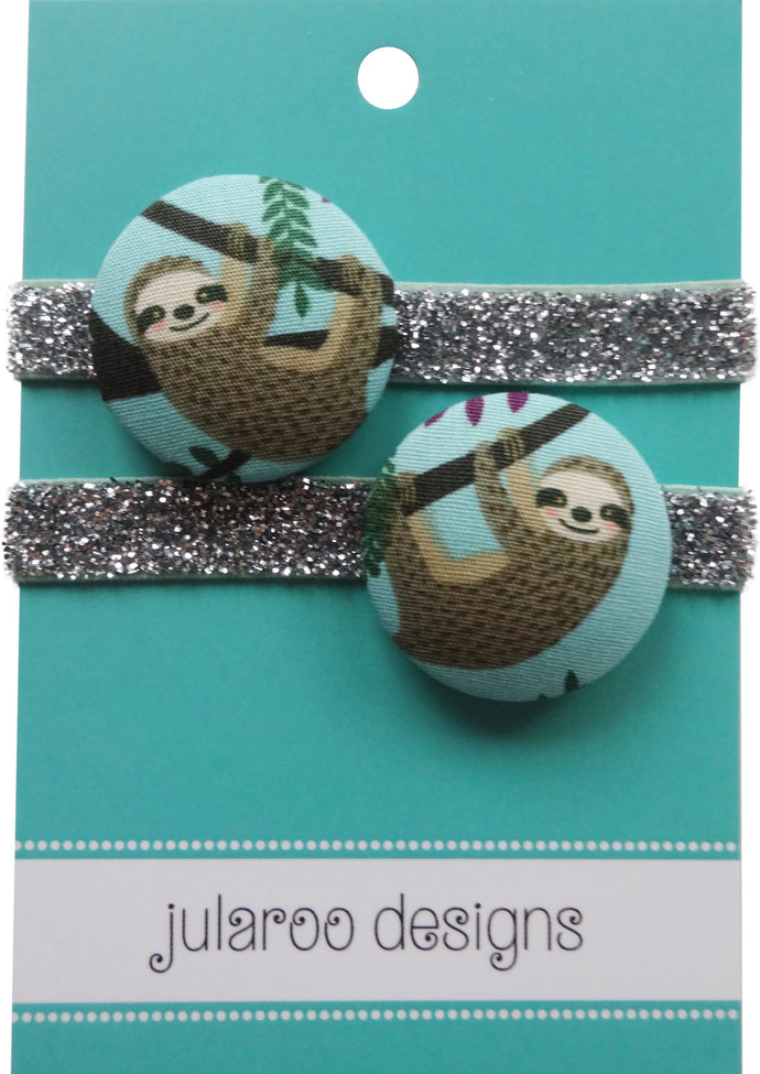 Sloth Hair Ties - 3 Colors to Choose From