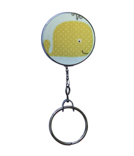 Retractable ID Badge Reel - Yellow Whale