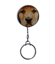 Retractable ID Badge Reel - Yellow Lab Dog