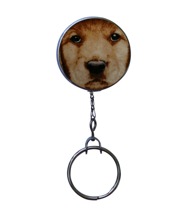 Yellow Lab Dog Print Retractable ID Badge Reel