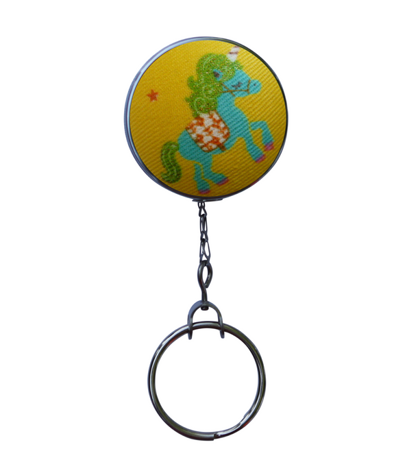 Turquoise Unicorn Retractable ID Badge Reel