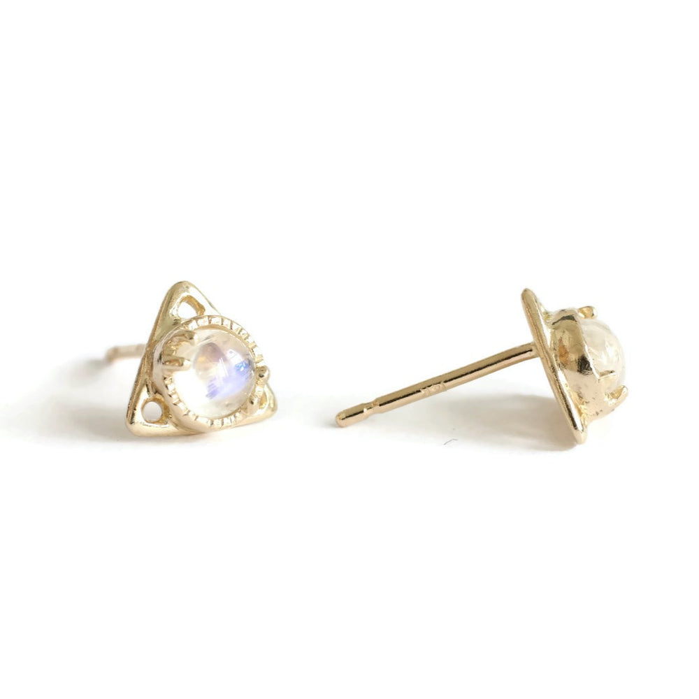 Good Change Triangle Moon Stone Studs