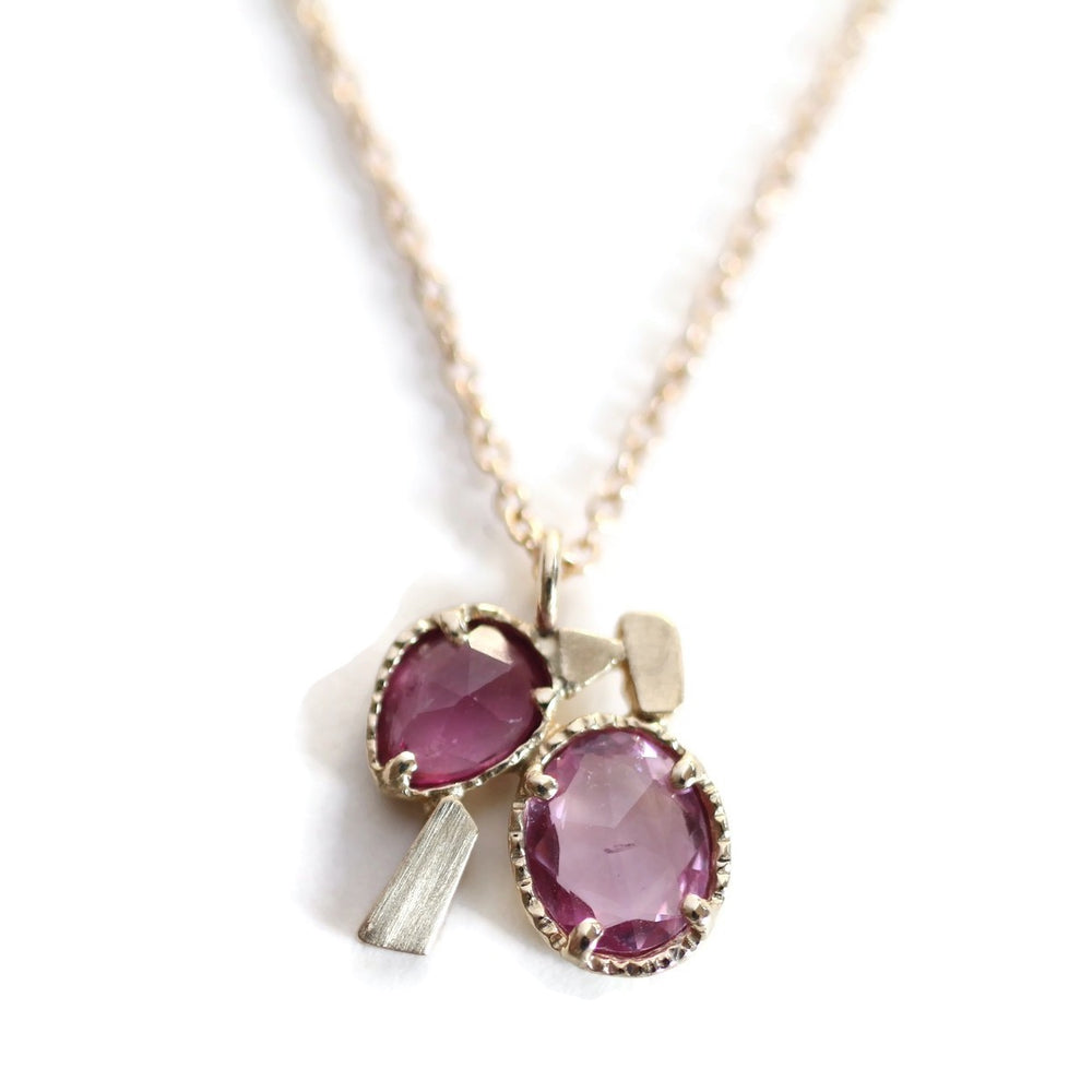 Stacking Stone Necklace -Rose