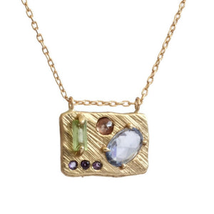 Collage Necklace (Medium) -Spring Garden