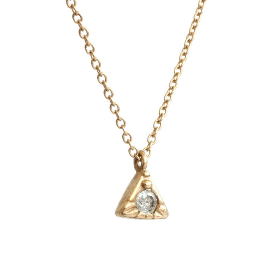 Load image into Gallery viewer, Tiny Pyramid Necklace