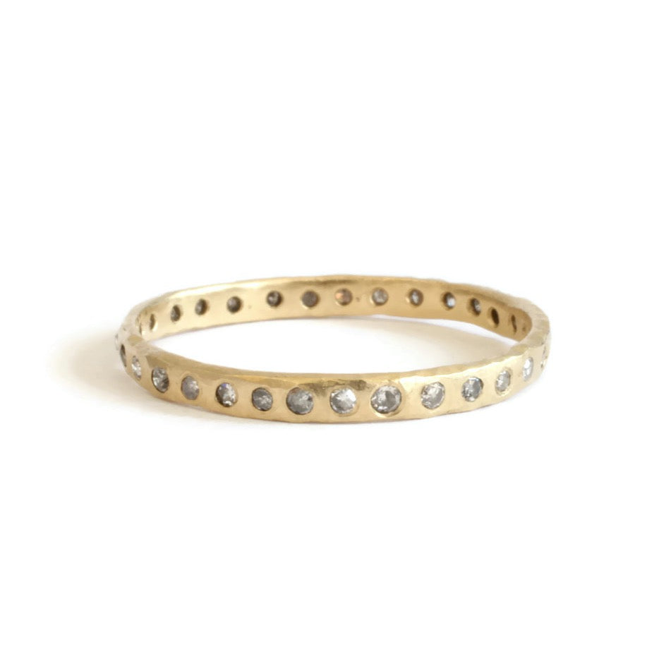 Load image into Gallery viewer, Gray Diamond Eternity Band -Size 6