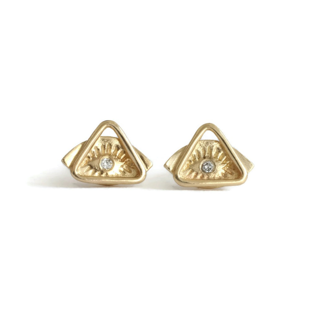 Tiny Eye+Triangle Studs