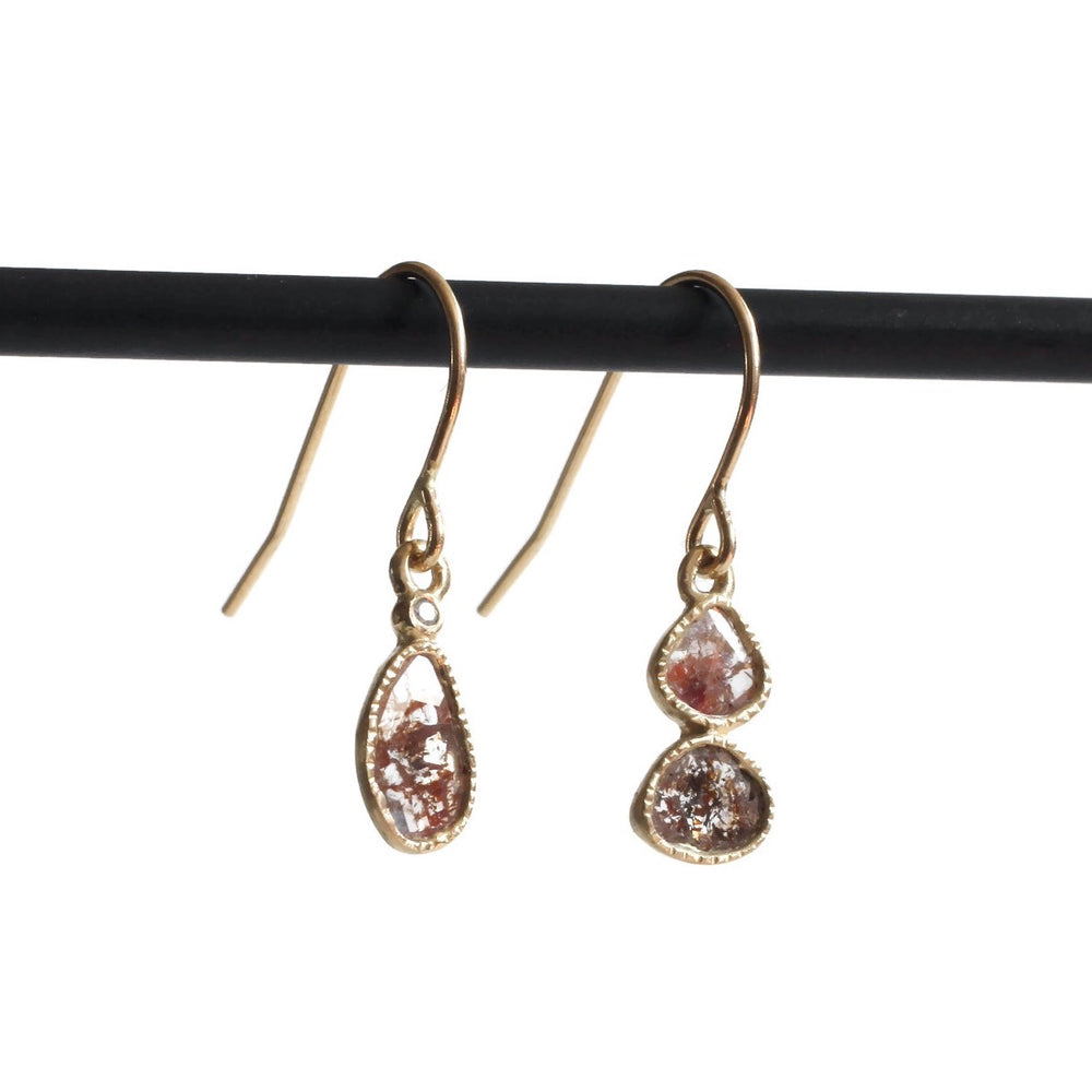 Diamond Slice Earring -Red Totem