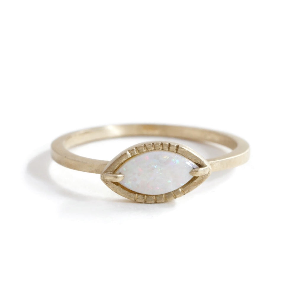 Opal Eye Ring -Small Size 6.75