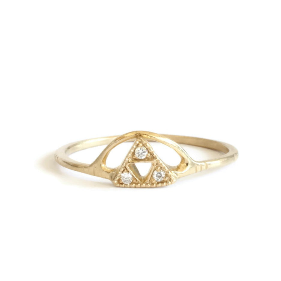 3 Triangle + Sun Ring -Size 6.25