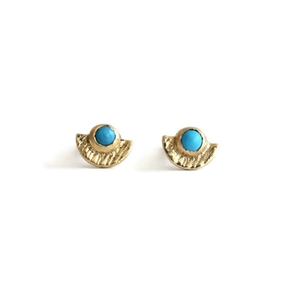 Load image into Gallery viewer, Sunshine Turquoise Studs