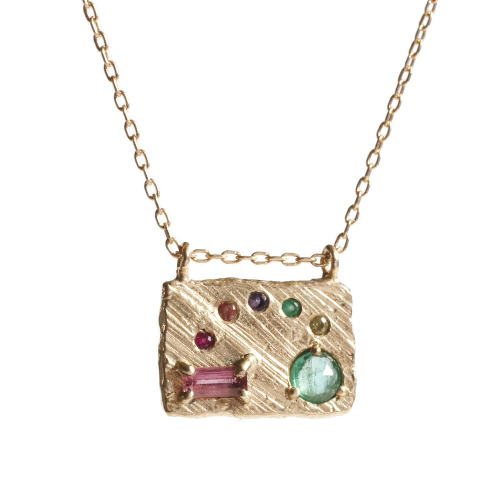 Collage Necklace (Medium) -Rainbow