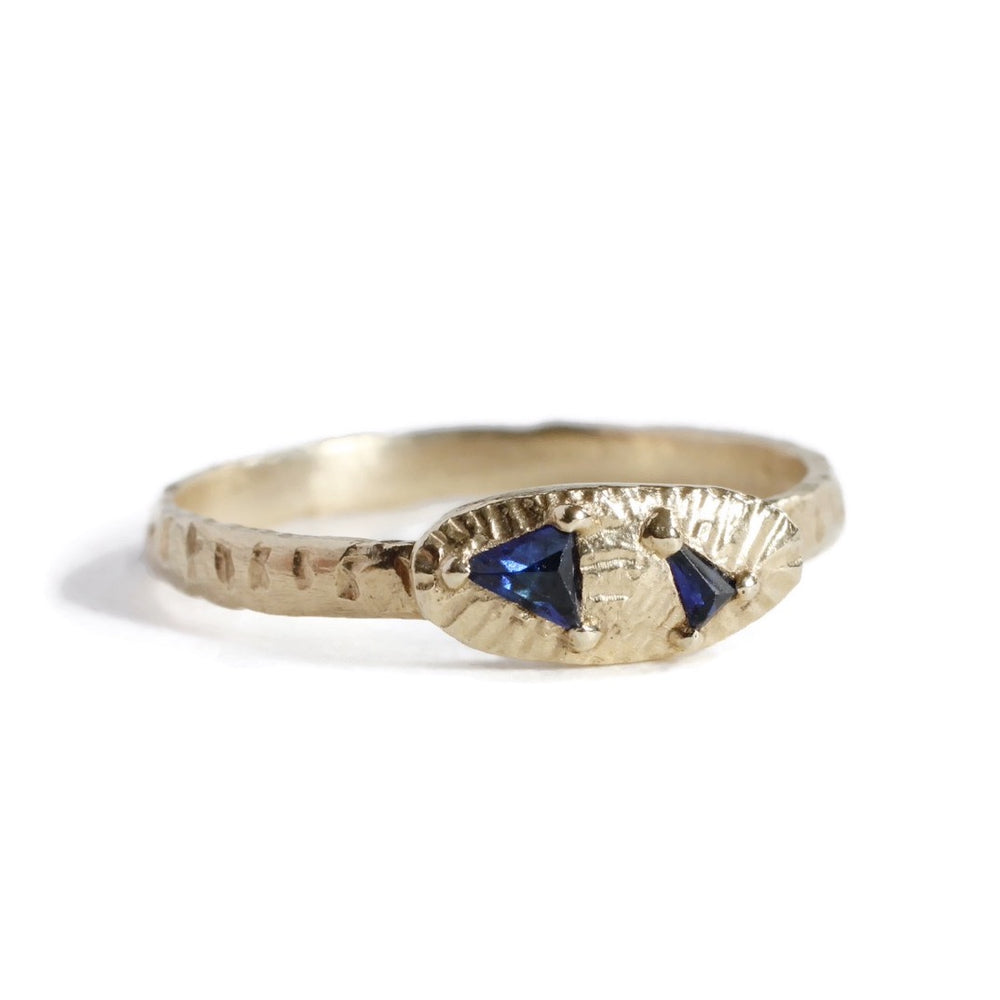 Indigo Arrow Ring -Wide -Size 6
