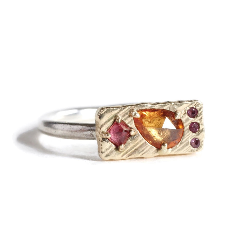Collage Ring (Small) -Orange Bouquet