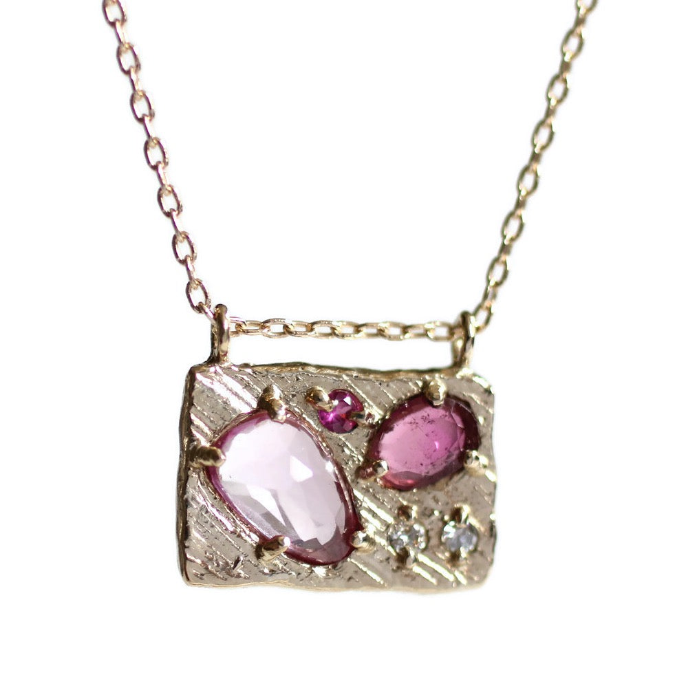 Collage Necklace (Medium)-Cherry Blossom