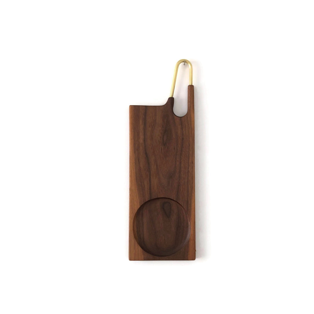 Load image into Gallery viewer, Lunar Cheese+Olive Serving Board -Walnut-