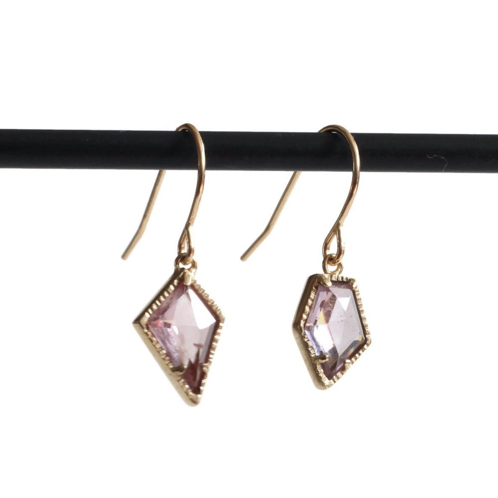 Load image into Gallery viewer, Geo Spinel Earring -Rose/Lavender
